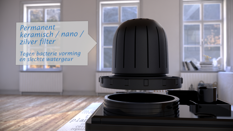 2in1: lucht bevochtigen en reinigen, Koud en warm verneveling, Ionisator, Geen vervangfilters nodig!