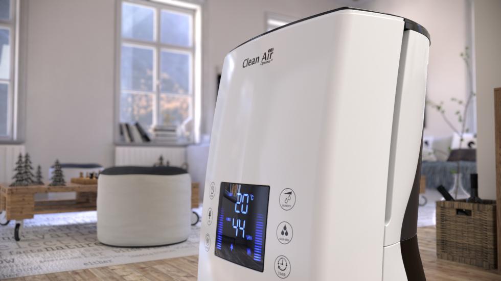 De ultrasoon luchtbevochtiger met ionisator CA-606 beschikt over een ingebouwde ionisator die negatieve ionen produceert voor het reinigen van de binnenlucht.