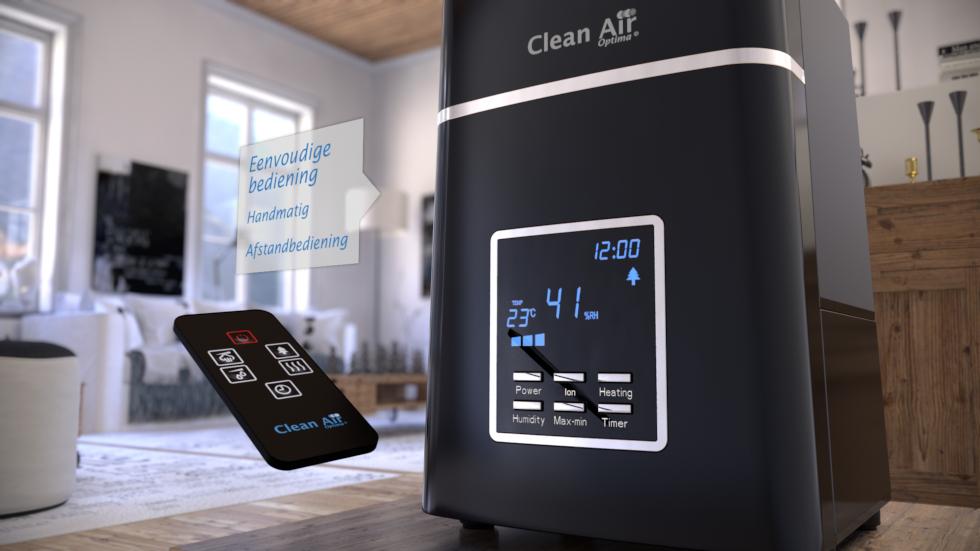 Bevochtiging met voorverwarming bestrijdt bacterievorming in het water.