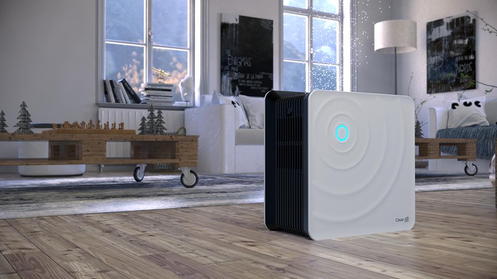 De luchtwasser Clean Air Optima CA-803 werkt zonder filtermatten